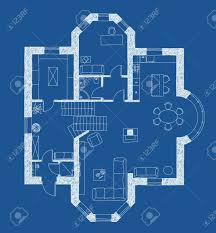 floor plans with furniture architectural drawing apartment plan with furniture in blue