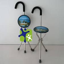 canne de marche avec siege pliable bâton de marche acier inoxydable canne de marche avec