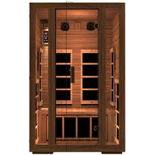 sauna glass doors jnh lifestyles freedom 2 person far infrared sauna mg215rb the