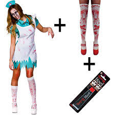Bloody Nurse Halloween Costume Zombie Nurse Costume Ebay