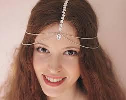 headpiece jewelry sia silver chain hair jewelry hair chain silver band