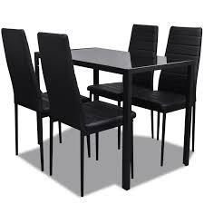table avec 4 chaises only 117 97 noir table à manger avec 4 chaises design comteporary