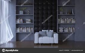 Deko Objekte Wohnzimmer Wohnzimmer Mit Leder Wand U2014 Stockfoto 133369294