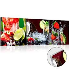 glasbilder küche murando acrylglasbild limone 120x40 cm glasbilder wandbilder