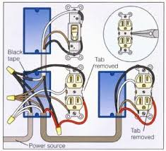 wiring a light switch and outlet together diagram wire an outlet