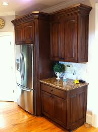 faux wood grain on mdf kitchen cabinets by www kbwalls com