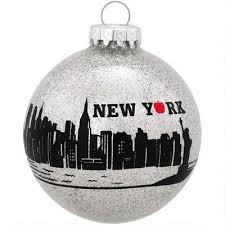 i think we need this new york city skyline glass ornament
