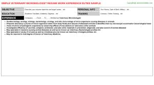 Veterinary Resume Sample by Microbiology Resume Samples Find Veterinary Microbiologist Job
