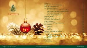decoration service brochure