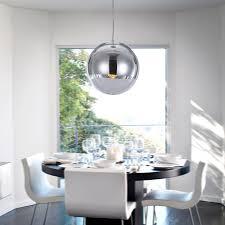 Shade Pendant Light Unitary Brand Silver Modern Glass Globe Shade Pendant Light Chrome