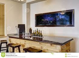 Luxurious Home Interiors Bar With Aquarium Luxury Home Interior Stock Photo Image 44889212