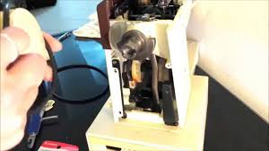 sewing machine motor belt and bobbin belt replacement singer