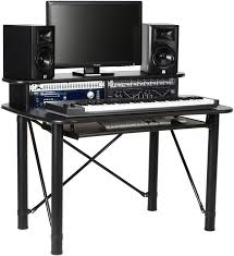 Studio Desk Guitar Center by On Stage Stands Ws7500 Wooden Workstation Rosewood Sweetwater