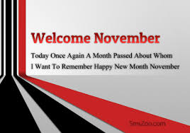 welcome november quotes wishes happy new month sms