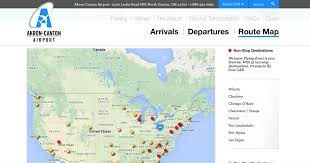 map salt lake city to denver akron canton airport flights and routes