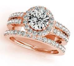 rings with brilliant images 1 50 carat round brilliant cut rose gold halo diamond engagement jpeg
