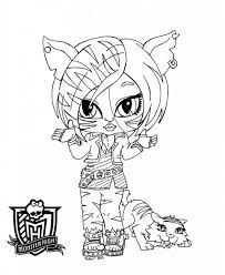 monster high chibi dangerous monster high coloring pages monster