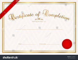 Prize Certificate Template Certificate Diploma Completion Design Template Background Stock