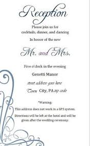 reception invitation wording for ceremonies the reception only invite wedding