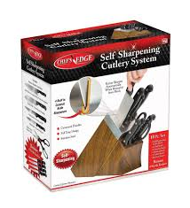Self Sharpening Kitchen Knives by Seen On Tv Chef U0027s Edge Self Sharpening Cutlery System 10 Piece Set