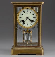 Crystal Mantel Clocks Tiffany U0026 Co French Crystal Regulator Style Mantle Clock Ebth