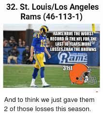 St Louis Rams Memes - 32 st louislos angeles rams 46 113 1 rams have the worst record in