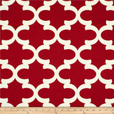 Home Decor Print Fabric Premier Prints Fynn Timberwolf Red Discount Designer Fabric