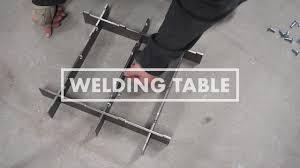 miller arcstation 30fx welding table bolt together welding table prototype youtube