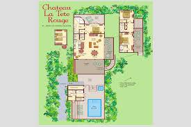 french chateau floor plans chateau la tete rouge villa st john villa rental wheretostay