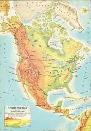 map usa central america items similar to vintage physical map of america usa central