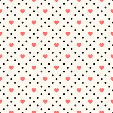 vector seamless retro pattern polka dot with hearts can be