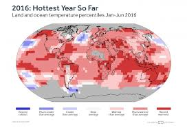 half of 2016 blows away temp records climate central