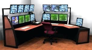Computer Desk For Two Monitors Computer Desk Monitors Ple Small Computer Desk For Two