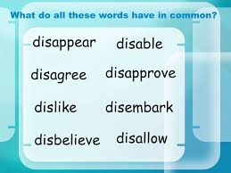 prefixes u2013 u0027dis u0027 spelling skills disable what do all these