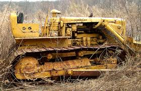 abandoned in a field in the usa a cat d6 8u equipped with