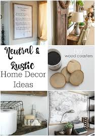 Home Decor Parties Neutral U0026 Rustic Home Decor Ideas Link Party 142 Mom Skills