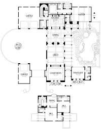 pictures on house plans with front courtyards free home designs