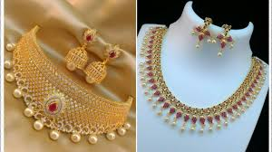 stone necklace sets images Latest cz stone necklace sets with price 1 gm gold cz jewellery jpg