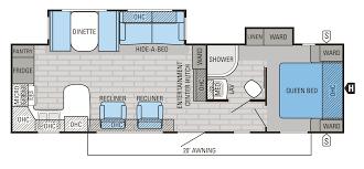 house plan 306rkds prowler travel trailer floor best dream camper