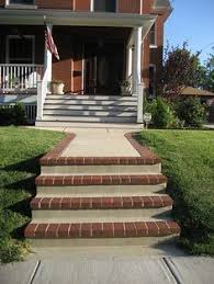 how to clad concrete steps in stone concrete porch natural
