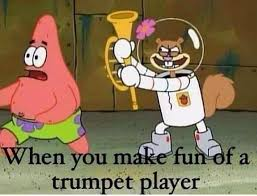 Trumpet Player Memes - band memes iowa state university hockey band
