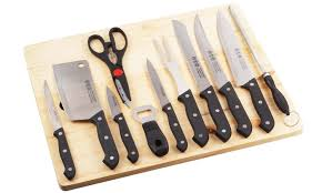 stainless steel kitchen knives set 67 on chef knife set 16 groupon goods