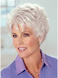best hairstyle for trendy 63 year old best old lady grey hair wig pinteres