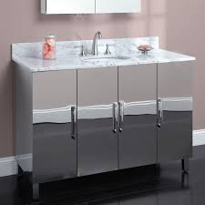 bathroom vanity with stainless steel sink 350515 l polished