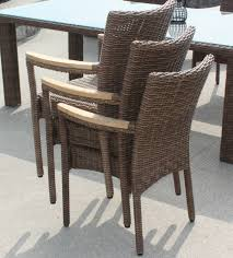 inspiration idea outdoor wicker dining chairs and brown outdoor