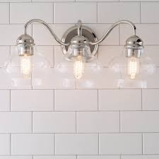 Bathroom Lighting Fixture by Clear Cloche Glass Bath Light 3 Light Shades Of Light