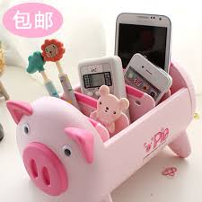 Novelty Desk Accessories Korean Novelty Pig Desk Accessories Storage Box Desktop