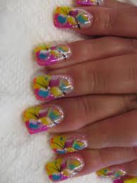 pink top nails