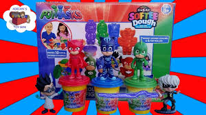 pj mask play doh toy softee dough cat boy gekko owlette romeo