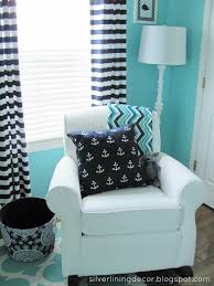 Navy Blue And White Striped Curtains by Mason U0027s Nautical Nursery Navy Nursery Nurseries And Nautical